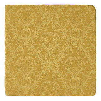Luxury Golden Floral Wallpaper Trivet
