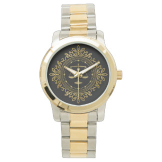 Luxury Golden Scales of Justice | Best Gifts Wristwatch