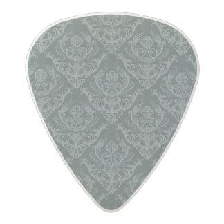 Luxury green floral damask wallpaper acetal guitar pick