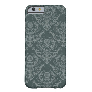 Luxury green floral damask wallpaper barely there iPhone 6 case