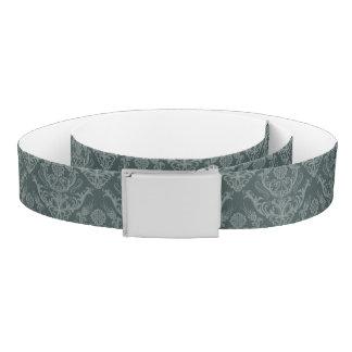 Luxury green floral damask wallpaper belt