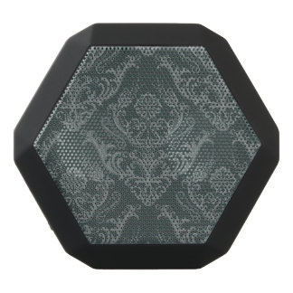 Luxury green floral damask wallpaper black bluetooth speaker