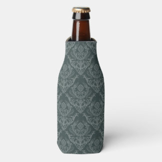 Luxury green floral damask wallpaper bottle cooler