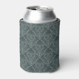 Luxury green floral damask wallpaper can cooler