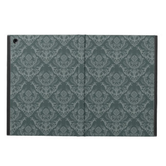 Luxury green floral damask wallpaper case for iPad air