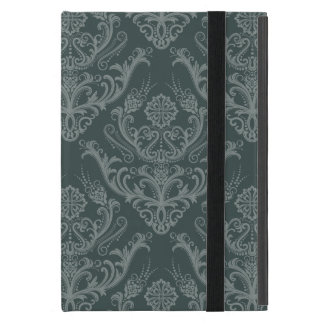 Luxury green floral damask wallpaper cases for iPad mini