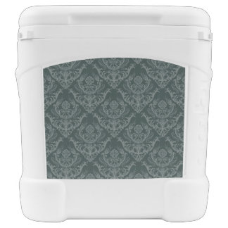 Luxury green floral damask wallpaper cooler