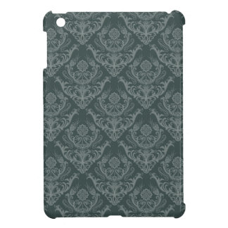 Luxury green floral damask wallpaper cover for the iPad mini