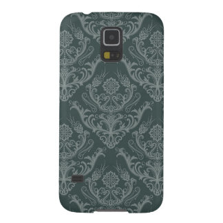 Luxury green floral damask wallpaper galaxy s5 cases