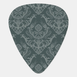 Luxury green floral damask wallpaper guitar pick