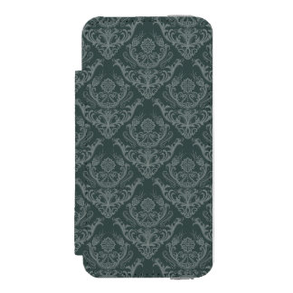Luxury green floral damask wallpaper incipio watson™ iPhone 5 wallet case