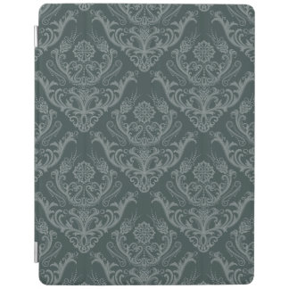 Luxury green floral damask wallpaper iPad cover