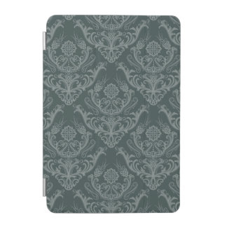 Luxury green floral damask wallpaper iPad mini cover