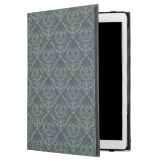 "Luxury green floral damask wallpaper iPad pro 12.9"" case"