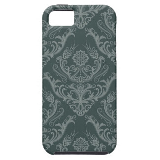 Luxury green floral damask wallpaper iPhone 5 case