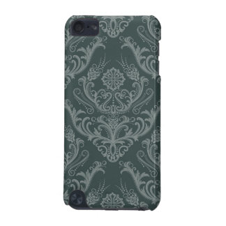Luxury green floral damask wallpaper iPod touch (5th generation) case
