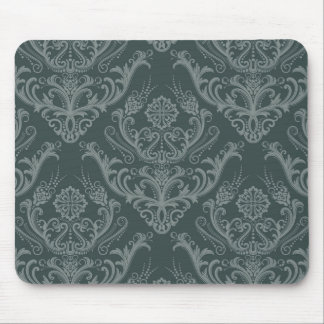 Luxury green floral damask wallpaper mouse mat
