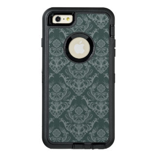 Luxury green floral damask wallpaper OtterBox iPhone 6/6s plus case