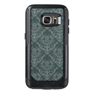 Luxury green floral damask wallpaper OtterBox samsung galaxy s7 case