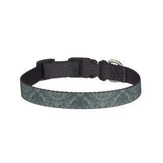 Luxury green floral damask wallpaper pet collar