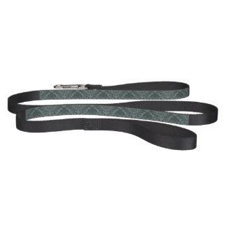 Luxury green floral damask wallpaper pet leash