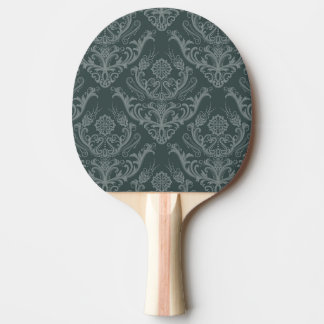 Luxury green floral damask wallpaper ping pong paddle