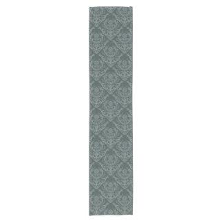 Luxury green floral damask wallpaper short table runner