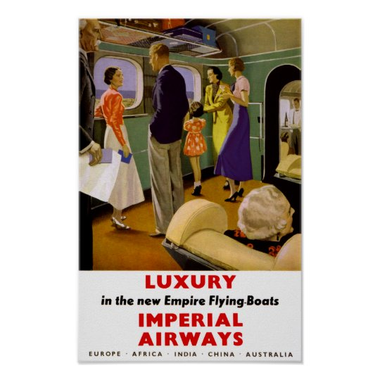 Luxury in the New Empire Flying Boats Poster