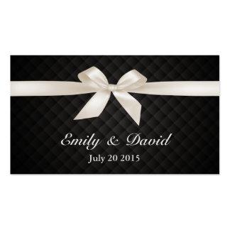 Luxury Ivory Ribbon Wedding Website Insert Card Business Cards