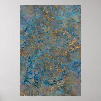 Luxury Lapis Lazuli Marble Poster