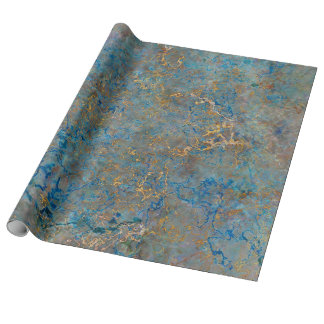 Luxury Lapis Lazuli Marble Wrapping Paper