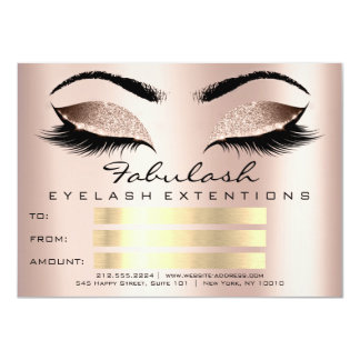Luxury Lashes Skin Makeup Artist Certificate Gift Card