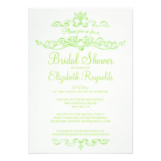 Luxury Lime Green Bridal Shower Invitations Personalized Announcements