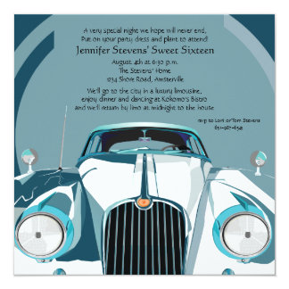 Luxury Limousine Invitation