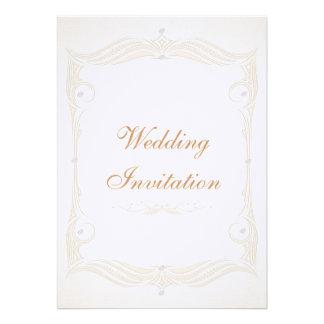 Luxury Linen Ivory & Silver Frame Wedding Card