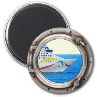Luxury Liner Porthole View 6 Cm Round Magnet
