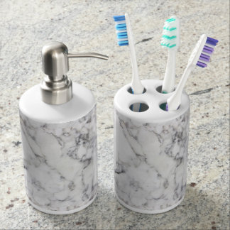 Luxury Marble Toothbrush Holders Soap Dispenser And Toothbrush Holder