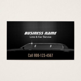 Luxury Metal Background Limo & Car Service