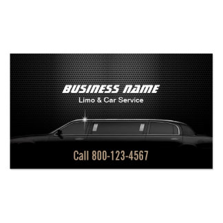 Luxury Metal Background Limo & Car Service Pack Of Standard Business Cards