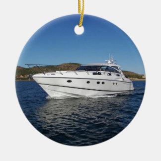 Luxury Motor Boat Christmas Ornament