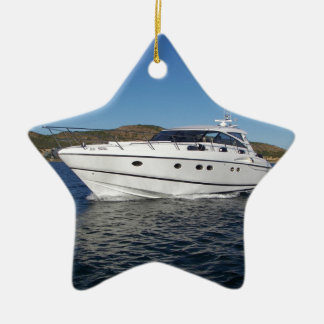 Luxury Motor Boat Christmas Ornament