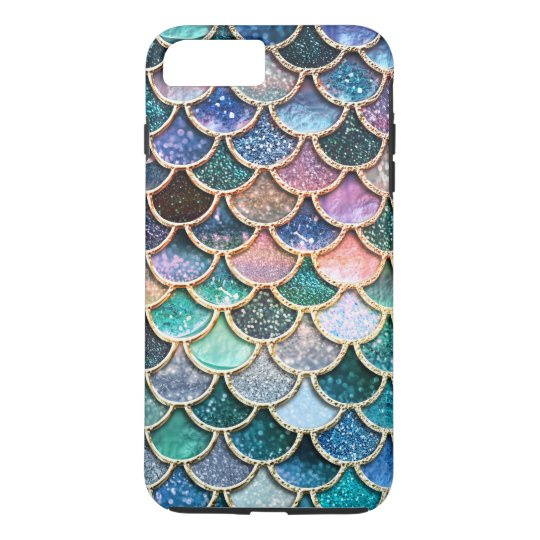 Luxury multicolor Glitter Mermaid Scales iPhone 7 Plus