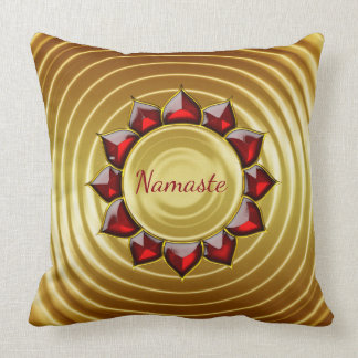 Luxury Namaste red and gold Cushion