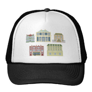 Luxury old fashioned houses buildings trucker hat