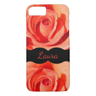 Luxury Orange Roses design iPhone 8/7 Case