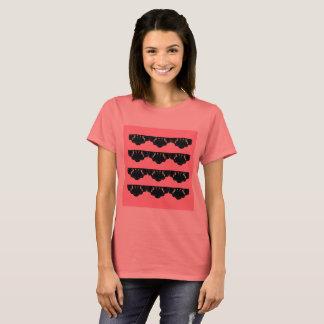 LUXURY Orient Ornaments Black Pink T-Shirt