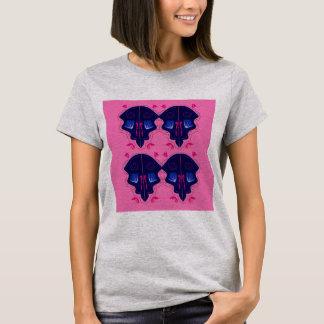 Luxury Ornaments blue pink T-Shirt