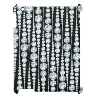 Luxury Pattern with white Diamond Stripes iPad Case