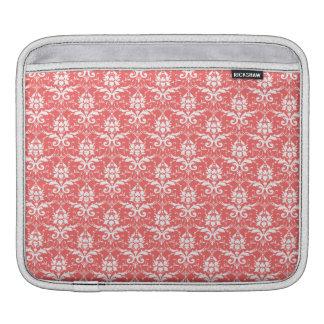 Luxury Peachy Pink Coral Damask Pattern iPad Sleeves