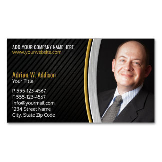 Luxury Photo professional Best Lawyer Consultant Magnetic Business Cards